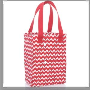 Twice As Nice Tote - Chevron Dash